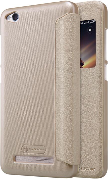 Nillkin Sparkle Leather Case pro Xiaomi Redmi 4A, zlatá