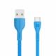 Promate kabel PowerBeam-C USB-C - USB-A, 2A, opletený, 1.2m, modrá