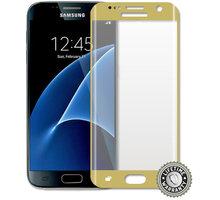 ScreenShield ochrana displeje Tempered Glass pro Galaxy G930 Galaxy S7, zlatá - SAM-TGGG930-D