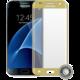 ScreenShield ochrana displeje Tempered Glass pro Galaxy G930 Galaxy S7, zlatá