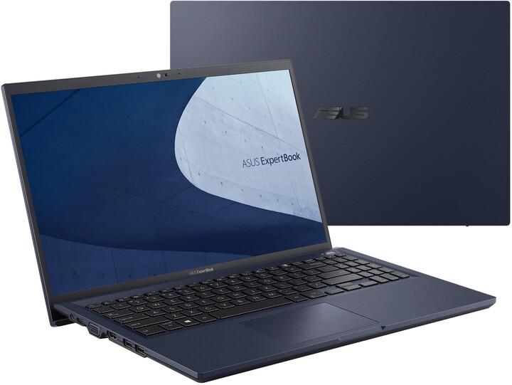ASUS ExpertBook B1 B1500, černá