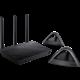ASUS RT-AC66U + 2x Lyra Trio, AC1750, Wi-Fi Dual-Band USB3.0 Gigabit Aimesh Router, 4x100/1000