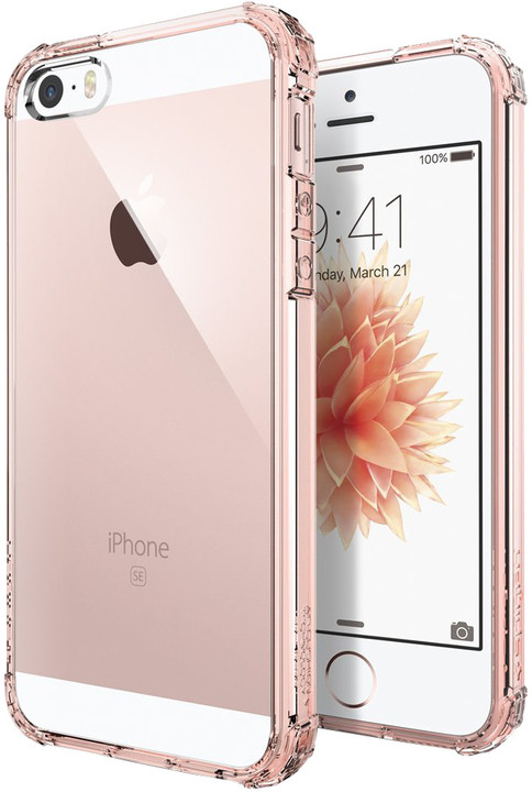 Spigen Crystal Shell kryt pro iPhone SE/5s/5, crystal rose