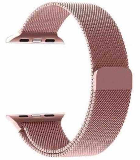 Tactical 349 kovový řemínek Loop pro Apple Watch 1/2/3/4/5/6/SE, magnetický, 38/40mm, růžová