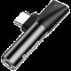 Baseus 90° adaptér USB-C/USB-C + 3.5mm jack, černá