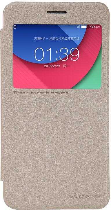 Nillkin Sparkle S-View Pouzdro pro Lenovo Vibe K5/K5 Plus, Gold (pošk. Blister)
