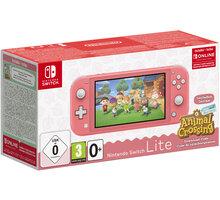 Nintendo Switch Lite, růžová + Animal Crossing: New Horizons