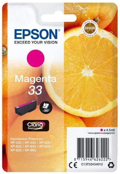 Epson C13T33434012, 33 claria magenta