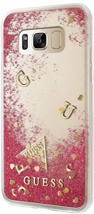 Guess Liquid Glitter Hard Case pro Samsung G950 Galaxy S8, Rapsberry