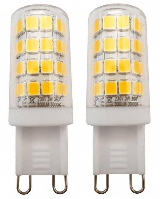 TESLA LED žárovka, G9, 3W, 3000K, teplá bílá, 2ks v balení