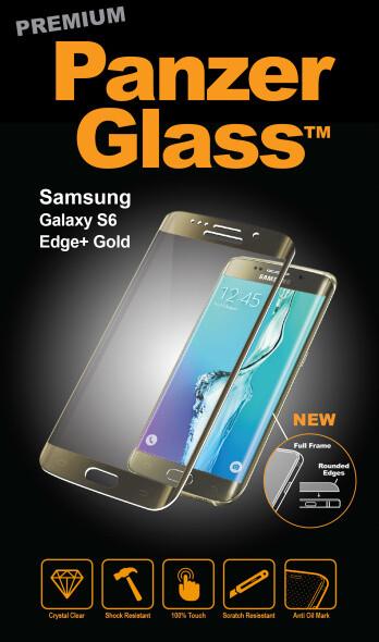 PanzerGlass Premium pro Samsung Galaxy S6 Edge+, zlaté