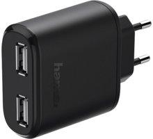Hama dvojitá síťová USB nabíječka, 4,8 A, AutoDetect - 123546