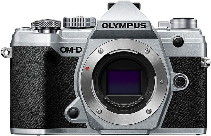 Olympus E-M5 Mark III tělo, stříbrná