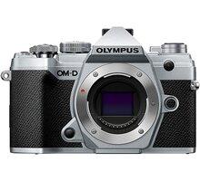 Olympus E-M5 Mark III tělo, stříbrná - V207090SE000