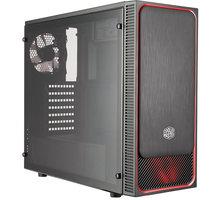 Cooler Master MasterBox E500L, černá, červený rámeček