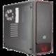 CoolerMaster MasterBox E500L, černá, červený rámeček  + Voucher až na 3 měsíce HBO GO jako dárek (max 1 ks na objednávku)