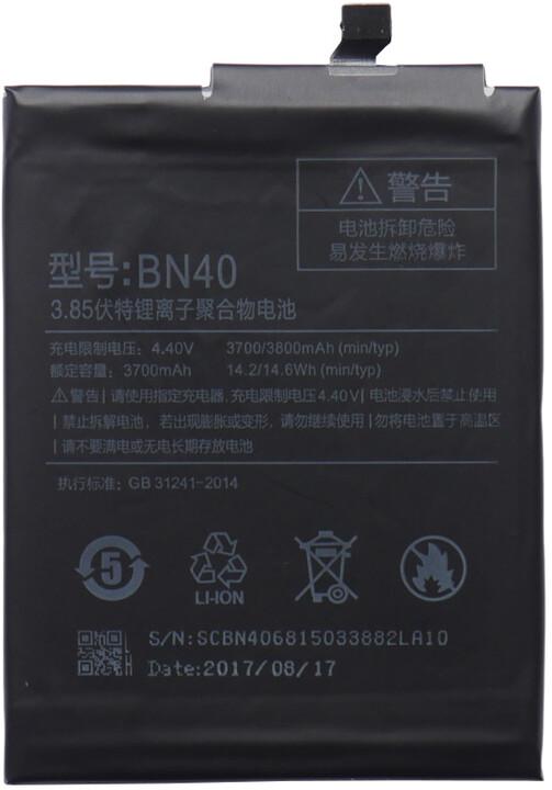 Xiaomi BN40 baterie 4100mAh pro Xiaomi Redmi 4 (Bulk)