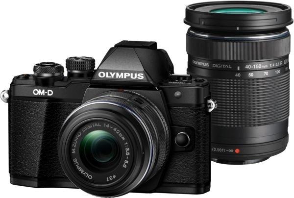 Olympus E-M10 Mark II + 14-42mm II R + 40-150mm R, černá/černá