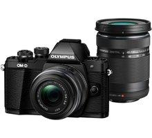 Olympus E-M10 Mark II + 14-42mm II R + 40-150mm R, černá/černá - V207055BE000