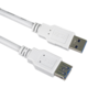 PremiumCord prodlužovací kabel USB-A 3.0, 2m, bílá