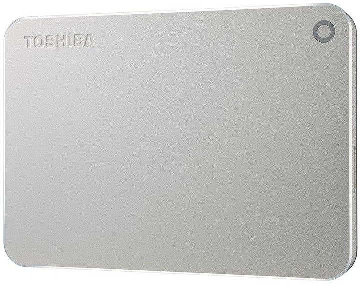 Toshiba Canvio Premium - 1TB, metalická stříbrná