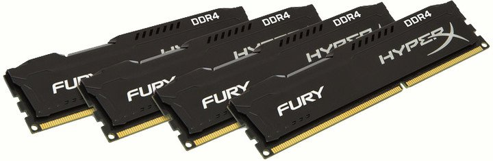 HyperX Fury Black 64GB (4x16GB) DDR4 2133
