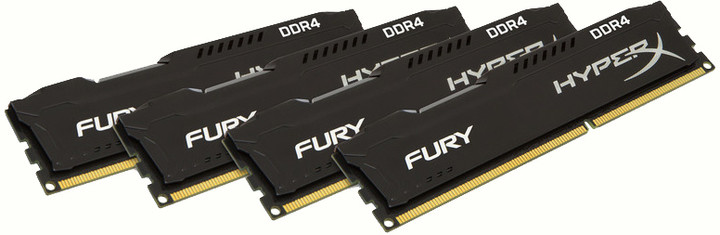HyperX Fury Black 64GB (4x16GB) DDR4 2400