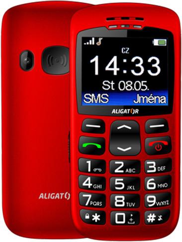 Aligator A670, červená + nabíjecí stojánek