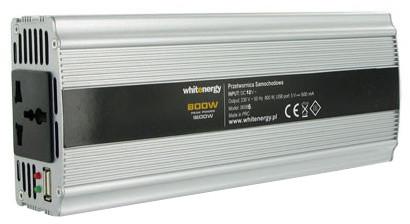 Whitenergy měnič napětí DC/AC, 24V/230V, 800W