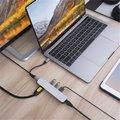 HyperDrive 6v1 USB-C Hub s 4K HDMI, stříbrná