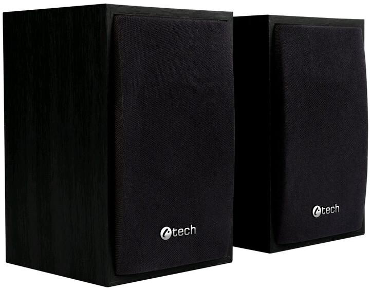C-TECH SPK-09BK, 2.0, černé, dřevěné
