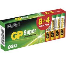 GP Super LR03 alkalická baterie (AAA) 8+4ks - 1013200127