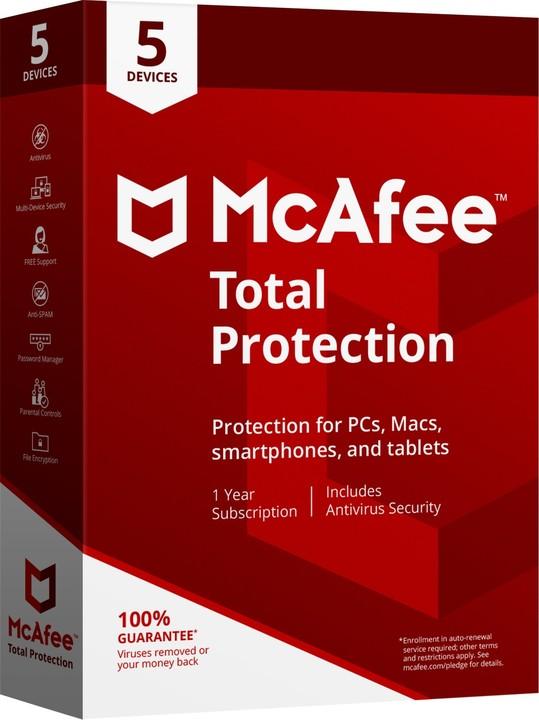 McAfee Total Protection - 5 licencí/1 rok - elektronická