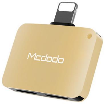 Mcdodo Lightning To Dual Lightning Adapter 5V, 1A (29x20x7,6 mm), Gold