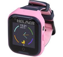 HELMER dětské hodinky LK 709 s GPS lokátorem, dotykový display, růžové - LOKHEL1045