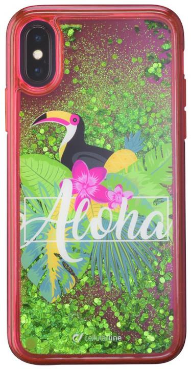 CellularLine gelové pouzdro Stardust pro Apple iPhone X, motiv Aloha