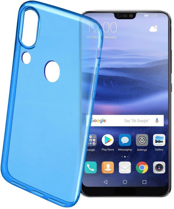 CellularLine barevné gelové pouzdro COLOR pro HUAWEI P20 Lite, modré