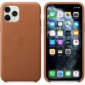 Apple kožený kryt na iPhone 11 Pro, sedlově hnědá