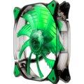 Cougar D12HB-G, LED zelená, 120mm