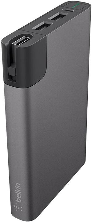 Belkin Power Pack 10000 mAh - MicroUSB, Lightning - Gray