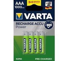 VARTA nabíjecí baterie Power AAA 1000 mAh, 3+1ks