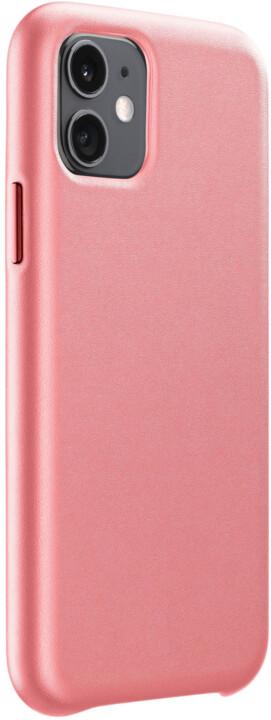 CellularLine ochranný kryt Elite pro Apple iPhone 11, PU kůže, oranžová