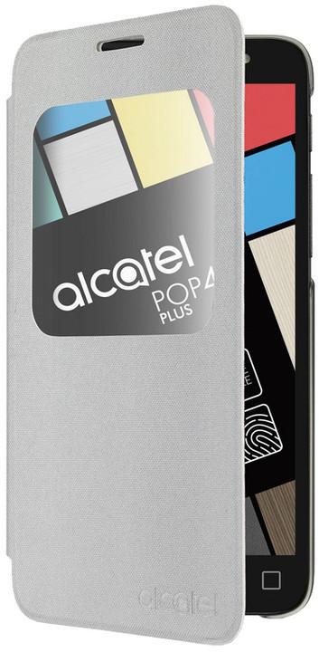 ALCATEL flipové pouzdro pro AF5056 Aero POP 4+, stříbrná