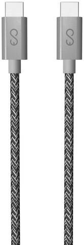 EPICO kabel USB-C, opletený, 1.8m, šedá