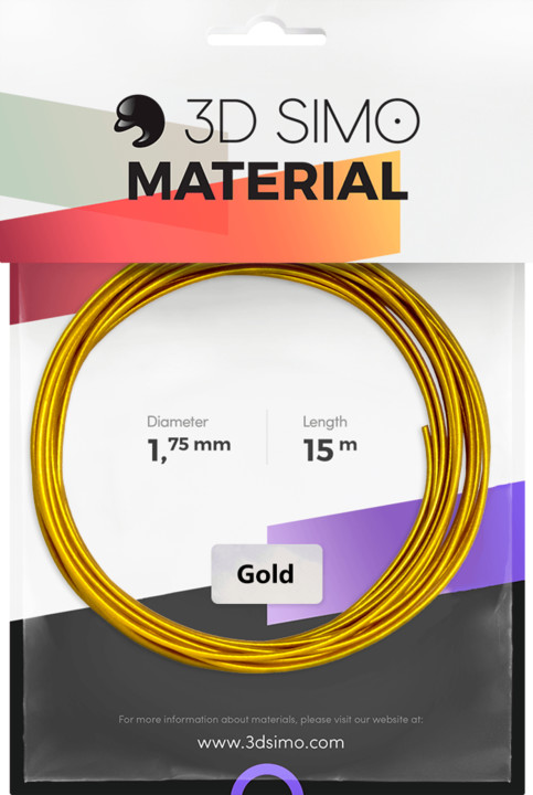 3Dsimo materiál - Real Gold