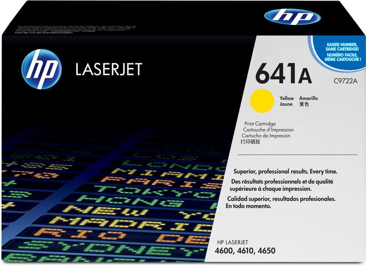 HP C9722A, žlutá