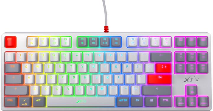 Xtrfy K4 TKL RGB, Kailh Red, US