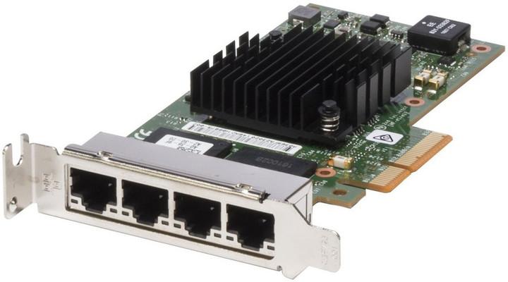 Dell 4-portová sítová karta 1 GbE - Intel i350 QP, PCIe, poloviční výška