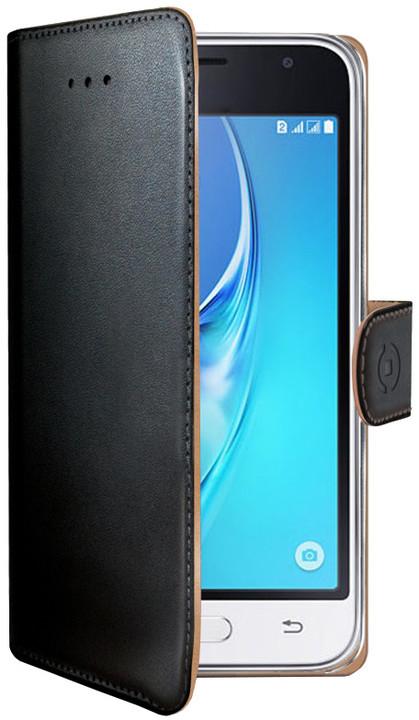 CELLY Wally Pouzdro typu kniha pro Samsung Galaxy J1 (2016), PU kůže, černé