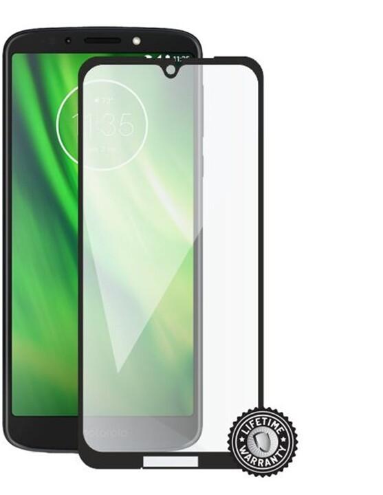 Screenshield ochrana displeje Tempered Glass pro Motorola Moto G7 XT1962, Full Cover, černá